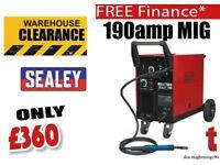 Sealey MIG Welder 190Amp Sealey Tools MIGHTYMIG190 Gas / No-Gas MIG Welder 190Amp with Euro Torch