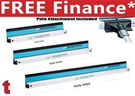 Ox Speedskim Plastic Flexible Plastering Rule Set Of 3 450mm, 600mm & 900mm + Pole Attachment