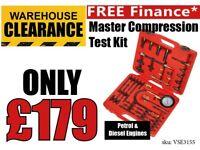SEALEY VSE3155 Petrol & Diesel - Master Compression Test Kit WAVE BOX