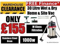 JEFFERSON JEFVACWD030/230 30L WET & DRY VACUUM CLEANER 230V SITE VACUUM M CLASS FILTRATION