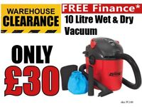 Sealey PC100 Vacuum Cleaner Wet & Dry 10 Litre 1000W/230V