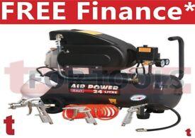 Sealey SAC2420EPK Compressor 24 litre Direct Drive 2hp + 4pc Air Kit