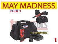 "SEALEY CP1202KIT 12V CORDLESS RATCHET WRENCH KIT 3/8""SQ DRIVE - 2 BATTERIES"