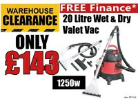 Sealey PC310 Carpet Cleaner Wet And Dry Valet Machine w/ Accessories 20 litre 1250W/230V