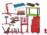 Mechanics Ultimate 53 Piece Garage Kit - Toolbox, Trolley Jack, Engine Crane Plus More