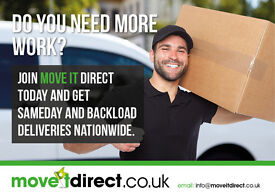 Courier Drivers needed for Sameday nationwide deliveries Backloads local deliveries - Move it Direct