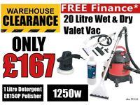 Sealey PC310 Wet & Dry Valet Machine & Carpet Cleaner / Detergent & ER150P