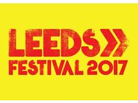 X2 Leeds Festival Tickets Saturday 26 August 2017