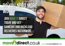 Courier Drivers needed for Same day nationwide deliveries Backloads local deliveries Move it Direct