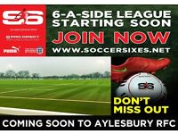 6-a-Side Football Teams Required for Brand New Sunday Night League @ Aylesbury RFC