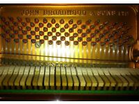 John Broadwood & Sons upright piano - beautiful clarity and duration