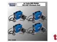 4X DRAPER 63669 GASLESS MIG WELDER KIT DEAL 100 AMP WHOLESALE DEAL