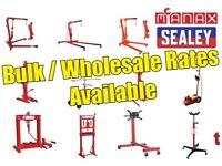 Wholesale/Bulk Rates Engine Cranes, Transmission jacks, engine stands, presses, Panel stands + more