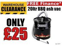 Draper 50977 Ash Vac 20L Ash Can BBQ Vacuum