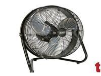 "Sealey HVF18IS Industrial High Velocity Floor Fan Internal Oscillation 18"""