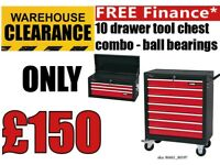 Draper 10 DRAWER Tool Chest Deal 3 Drawer Top Box & 7 Drawer Roller Cabinet