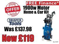 DRAPER 83407 1900W 230V PRESSURE WASHER HOME & CAR CLEANING KIT