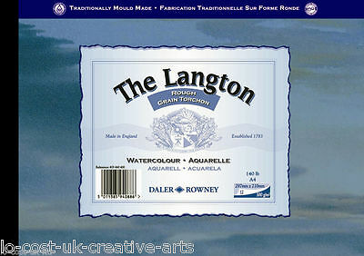 DALER ROWNEY A4 LANGTON ROUGH WATERCOLOUR PAPER GUMMED PAD 140LB