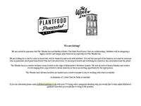 Plant food Chef wanted for The Wonder Inn