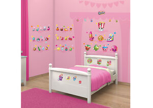 NEW Shopkins Walltastic Room Sticker Kit for Kids bedrooms
