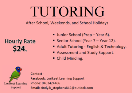 Lorikeet Learning Support - Tutoring and Child Minding