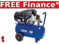 Draper 29355 3HP Air Compressor 50L V Twin Pump cylinder 230V 14CFM 50 litre compressor