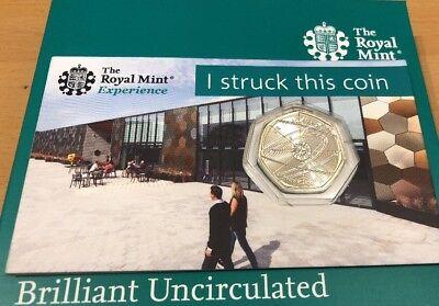 2018 Sir Isaac Newton BU 50p Strike Your Own Coin Rarest 50p 20,000 MINTAGE