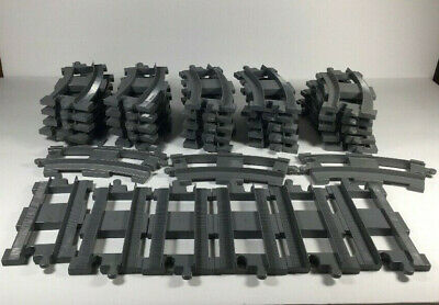Lego DUPLO Train Track set Rail road 28 CURVE CURVED/6 STRAIGHT Huge Lot 34 pc