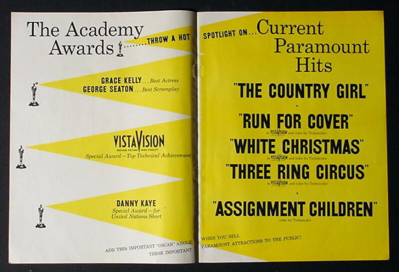 EXTREMELY RARE 1955  PROMO ACADEMY AWARDS MOVIE AD GRACE KELLY THE COUNTRY GIRL