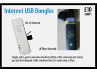 Internet USB Dongles (Three & o2) UK networks