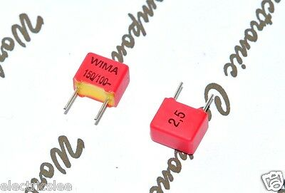 10pcs-wima Fkp2 150p 150pf 0.15nf 015nf 100v 2.5 Pich5mm Capacitor