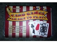 Retro Games Traditional Card Games Learn To Play In Metal Tin Brand New
