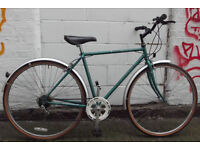 Vintage dutch bike RALEIGH in burgundy - 3 speed , frame size 21in/54cm ready to go MINT CONDITION