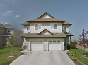 Gorgeous Fort Sask Duplex, West facing to the park NO CONDO FEES