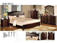 8PCS QUEEN SIZE BEDROOM SET ONLY $1199NO TAX