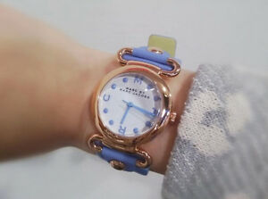 "Marc Jacobs Leather Rosegold ""Molly"" watch excellent condition"