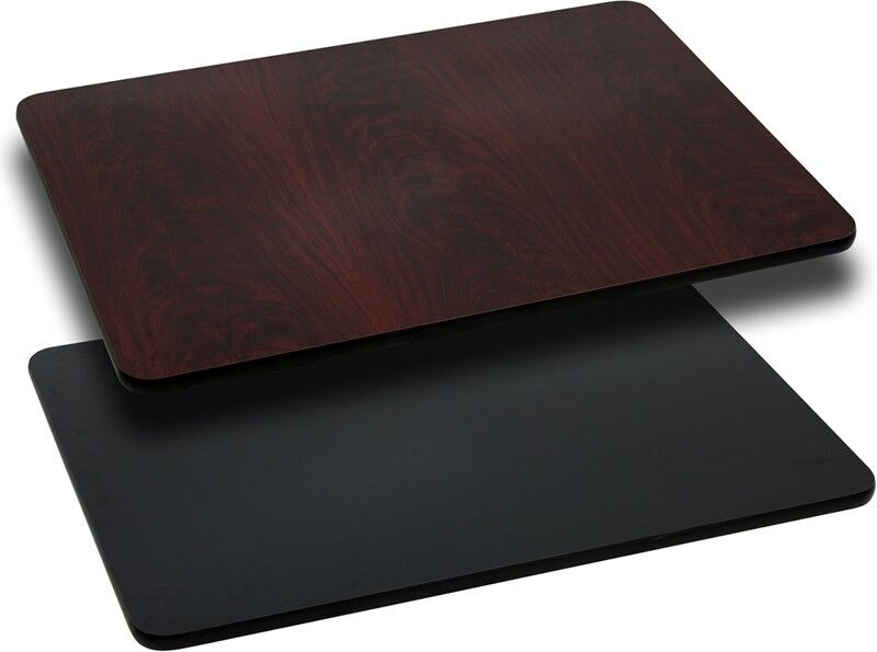 24 x 42 Rectangular Table Top w//Black or Mahogany Reversible Laminate Top Table