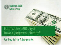 We Buy Debts, Orders and Judgments!