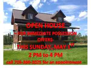 OPEN HOUSE-Sun. May1st 2-4pm -for immediate possession offers