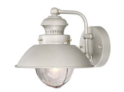 Harwich 8 Outdoor Wall Light Brushed Nickel