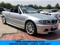 2006 BMW 320CD M SPORT CONVERTIBLE SERVICE HISTORY 2 KEYS LONG MOT 2DR 148 BHP
