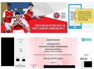 1x Arsenal vs WSW ticket - Arsenal active support area Canberra City North Canberra Preview