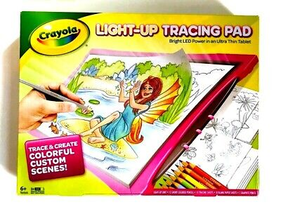 Crayola Light Up Tracing Pad LED Ultra Thin Tablet Pink , used for sale  Shipping to India
