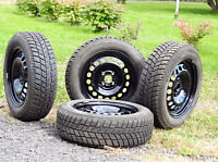 Tires mounted on rims -  195/60 R15