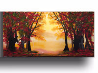 CYBER Monday SALE Landscape Acrylic painting Tree Canvas Art