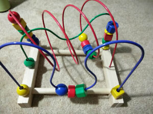 Infant toy - Ikea Mula Bead Roller Coaster