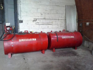 Double wall diesel fuel tanks and pump