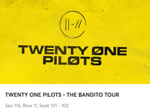 Twenty One Pilots Bandito Tour - Aisle, Lower Bowl, Cheap Price