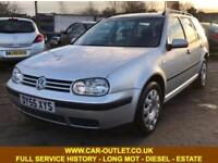 2005 VW GOLF SE 1.9 TDI FULL SERVICE HISTORY LONG MOT 5DR ESTATE 129 BHP DIESEL