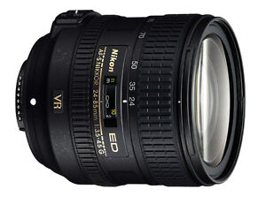 Nikon FX 24-85 VR lens